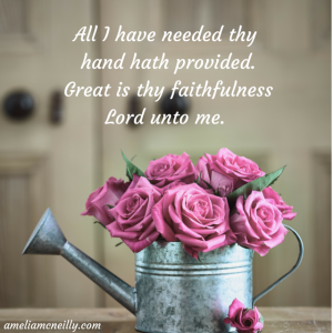 All I have needed thy hand hath provided.Great