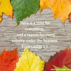 There is a time for everything, and a season for every activity under the heavensEcclesiastes 3-1