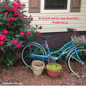 Seek God and let your heart live. ~Psalm 69_32