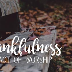 Hope a Little More Series – Thankfulness – An Act of Worship
